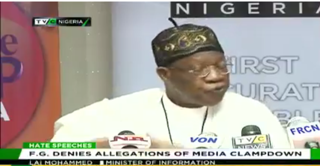 Lai Mohammed visits TVC News, denies allegations of media clampdown