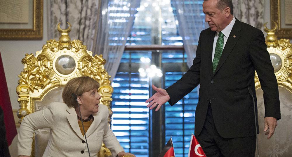 Turkish President calls for vote against Angela Merkel