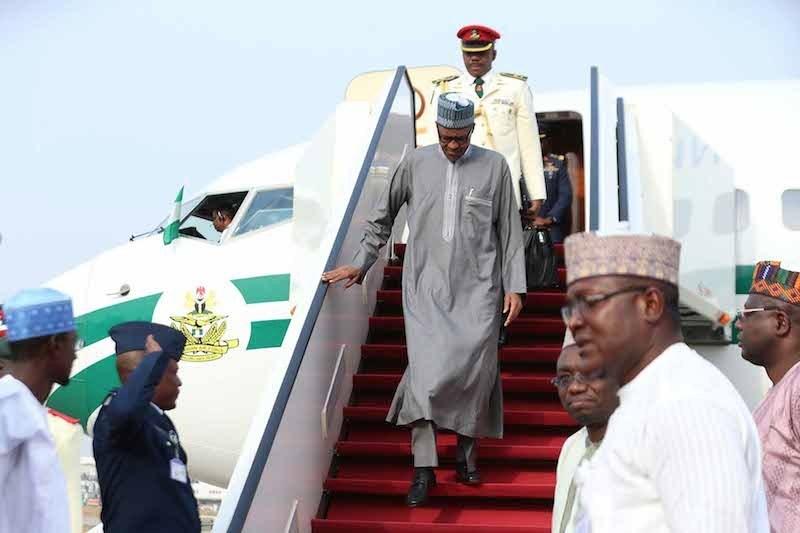 BREAKING: Buhari returns after medical vacation in London