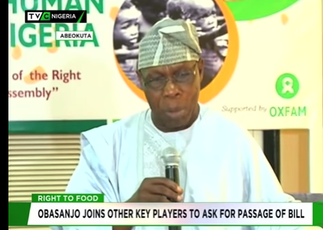 Obasanjo joins other key players to ask for passage of Food Rights Bill