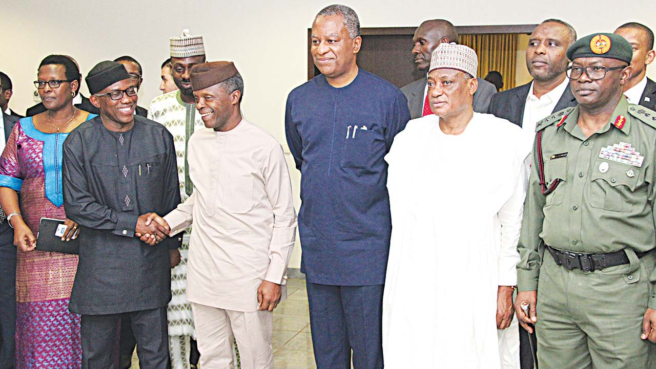 A.U. Peace and Security Council visits Osinbajo