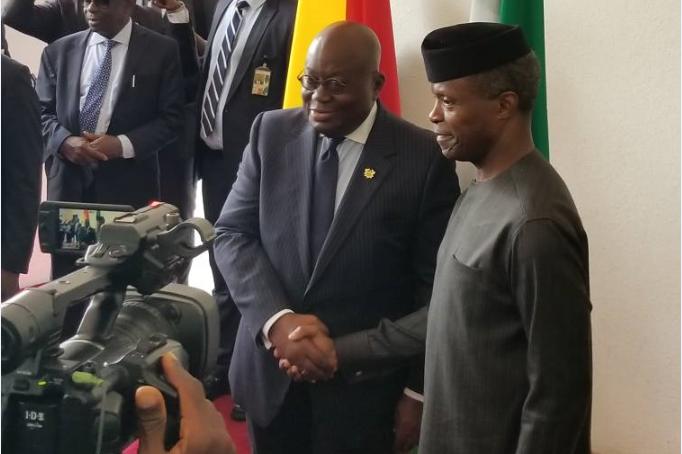 Ghanaian President Akufo-Addo visits Osinbajo