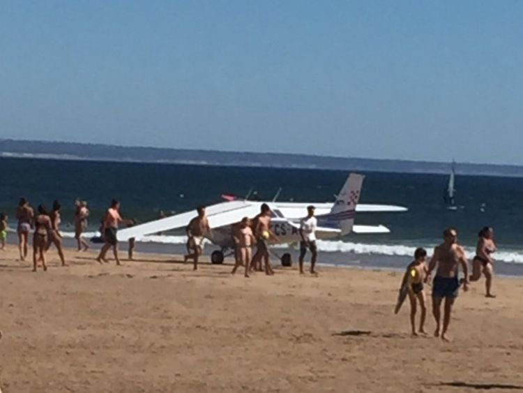 Two killed as plane lands on beach in Portugal