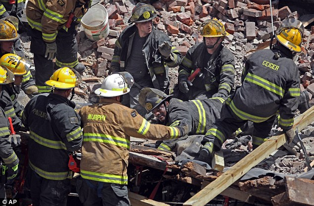 One person rescued in Rubble by fire Brigade