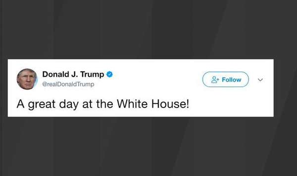 "Trump hails ""great day at the White House"" after Scaramucci's ouster"