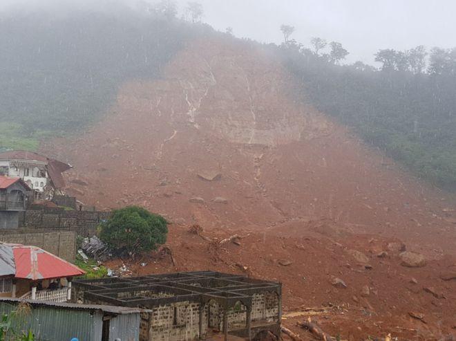 Hundred feared dead, many rapped in Siera Leone mudslide