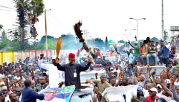 El Rufai joins youths to celebrate Buhari's return