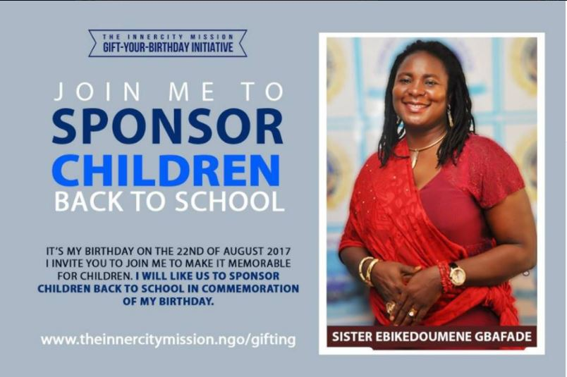 Army officer's wife sponsors children back to school to mark birthday