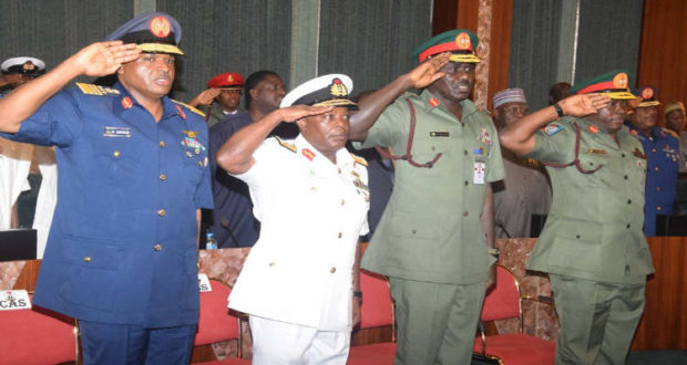 Insurgency : Service Chiefs arrive in Maiduguri in line with Osinbajo's order