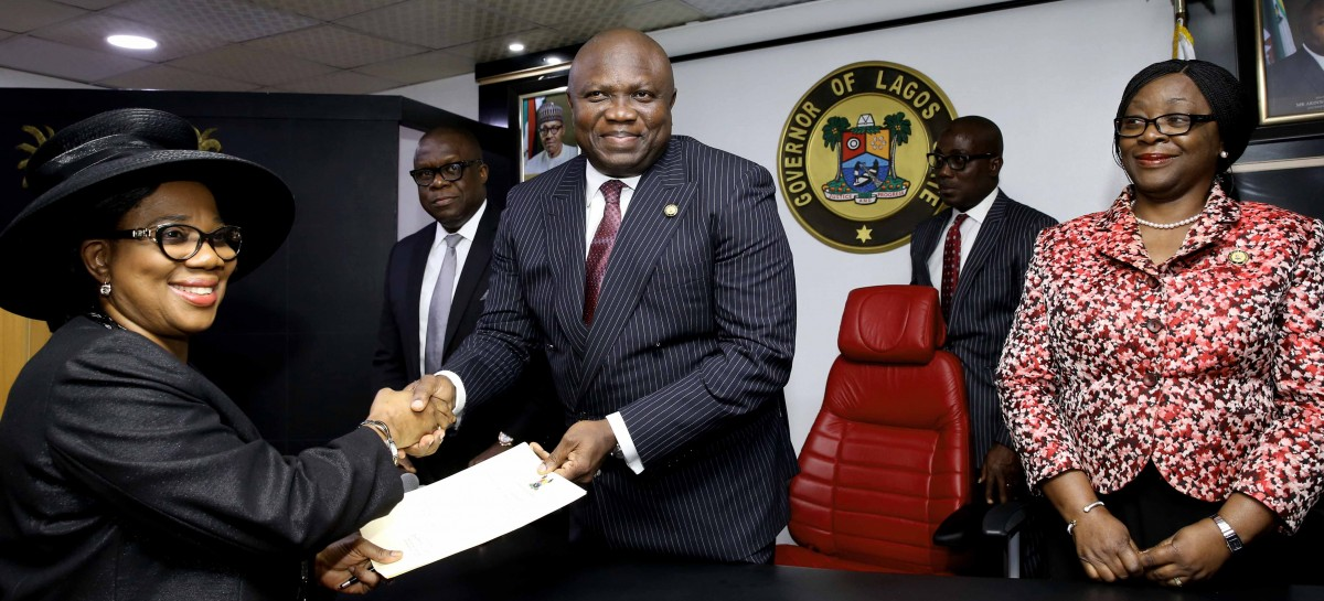 Governor Ambode inaugurates Justice Oke as Acting Chief Justice of Lagos