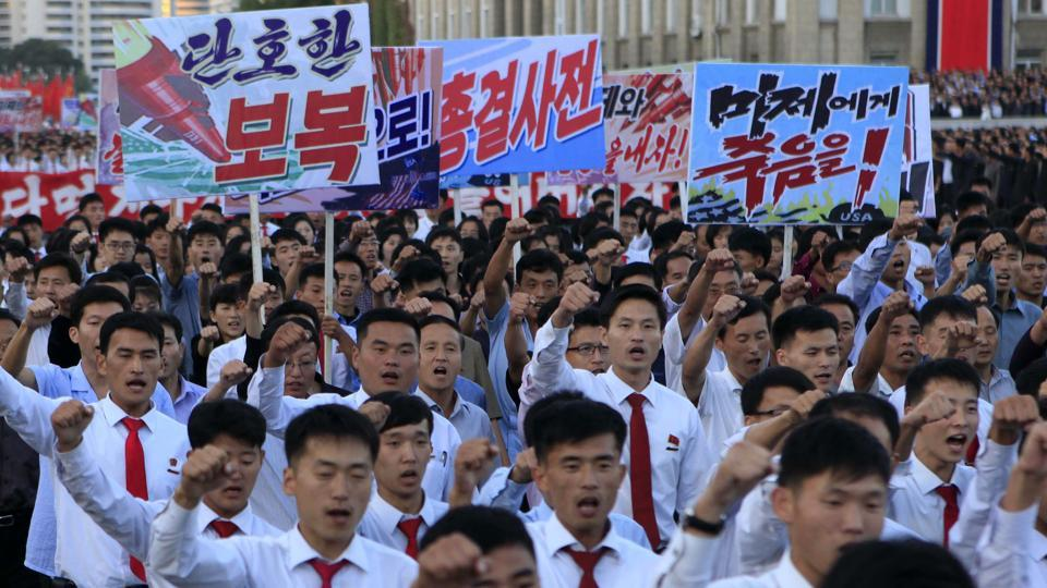 Thousands of North Koreans turn out for anti-U.S. rally