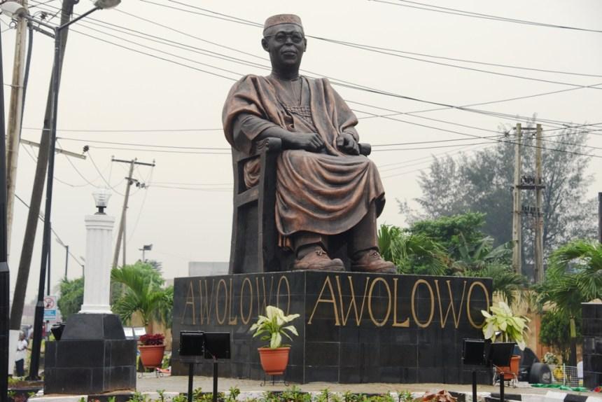 Ambode unveils 20-feet Awolowo statue