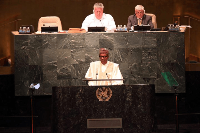 President Buhari to address issues of stolen funds today at UNGA