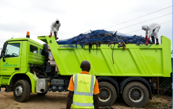 Cleaner Lagos initiative : VisionScape distributes improved waste bags