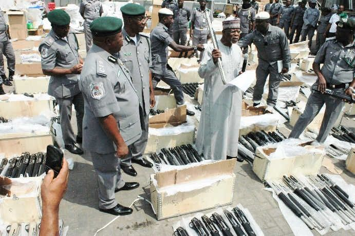 Customs intercepts another cache of 470 rifles at Lagos port