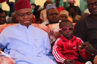 El-Rufai moved to tears upon meeting little Sadiq whose eyes were gouged out