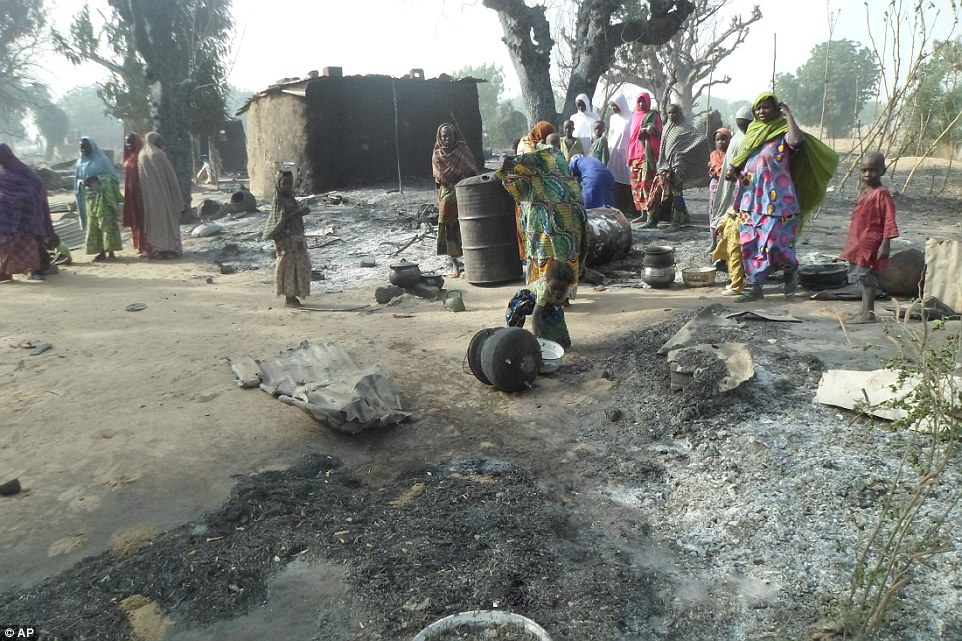 Three killed, 150 homes razed in Boko Haram raid in Borno