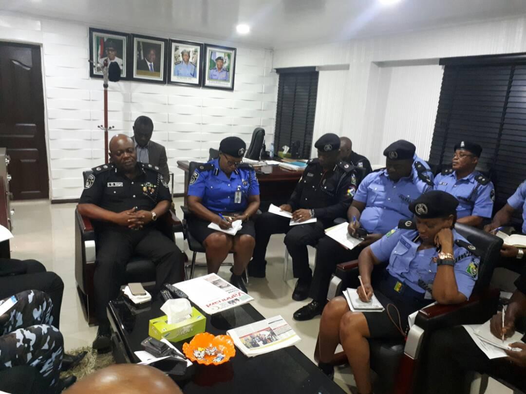 Eid-El-Kabir : Lagos CP Imohimi meets Area Commanders, Assistant Commissioners