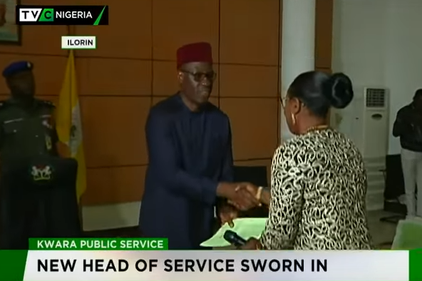 Kwara governor swears-in new Head of Service