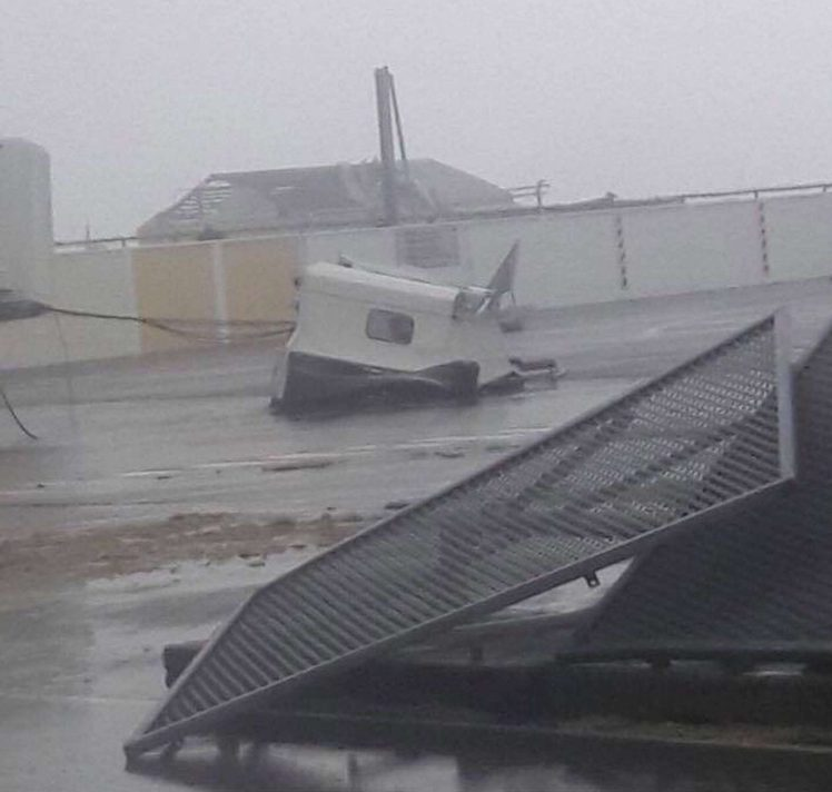 Famous Miami airport damaged by Hurricane Irma