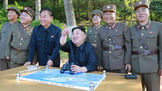 Photos released showing Kim Jong Un guiding Missile test
