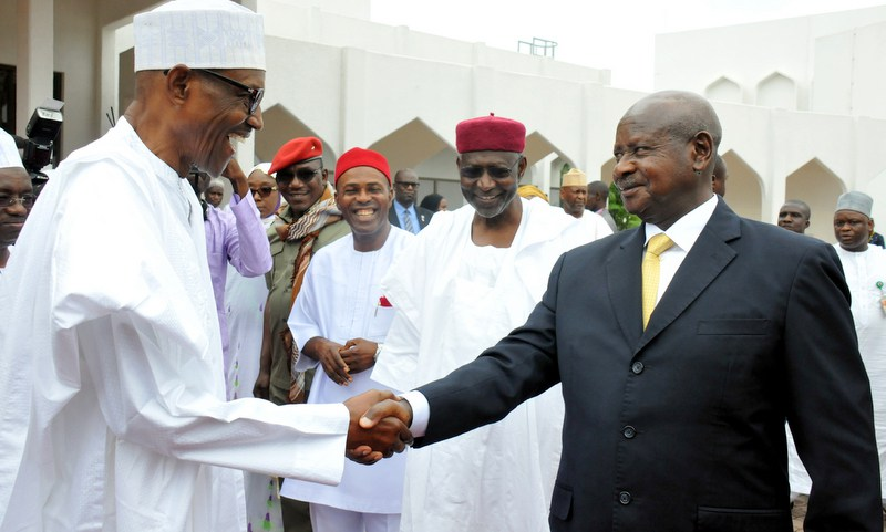 President Museveni of Uganda visits Nigeria