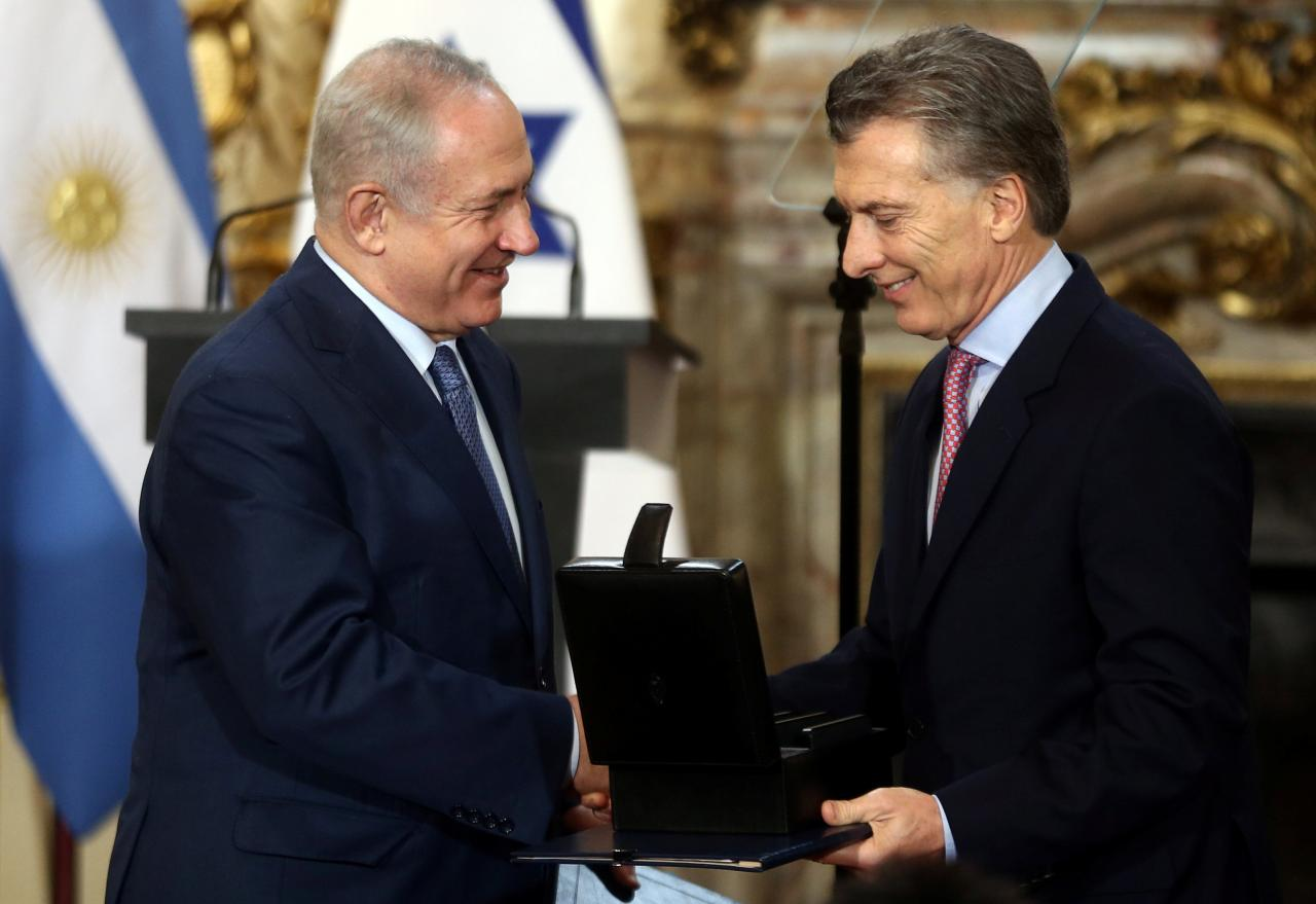 Nethanyahu visits Argentina to boost ties