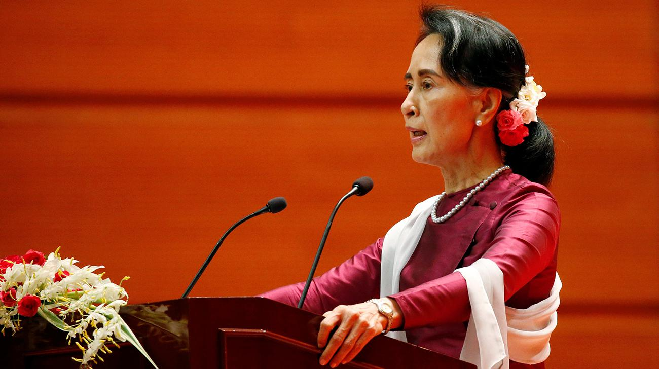 Myanmar's Suu Kyi condemns rights abuse, decries suffering in Rakhine