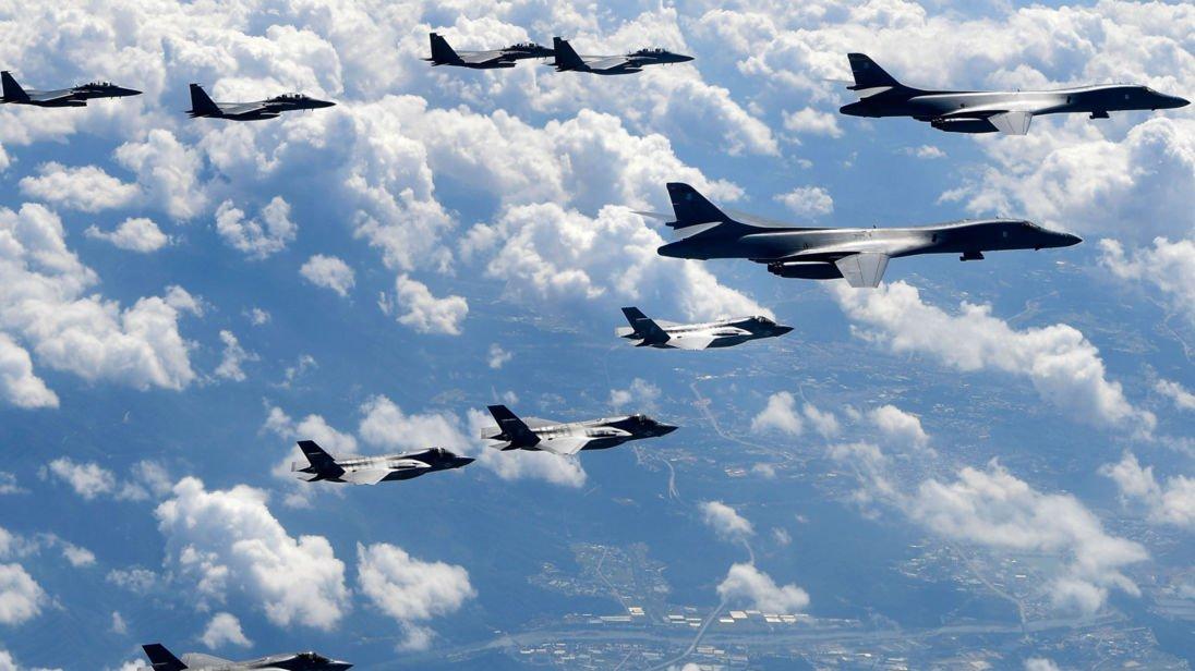 U.S. Lancer bombers fly near demilitarization zone