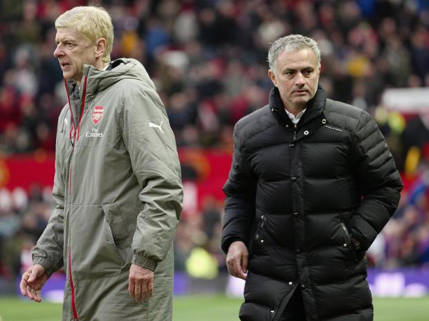 Manchester United boss Jose Mourinho aims unsubtle dig at old foe Arsene Wenger