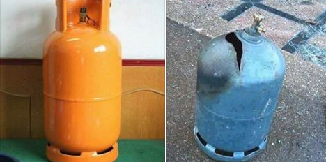 The danger in using gas cylinders at home