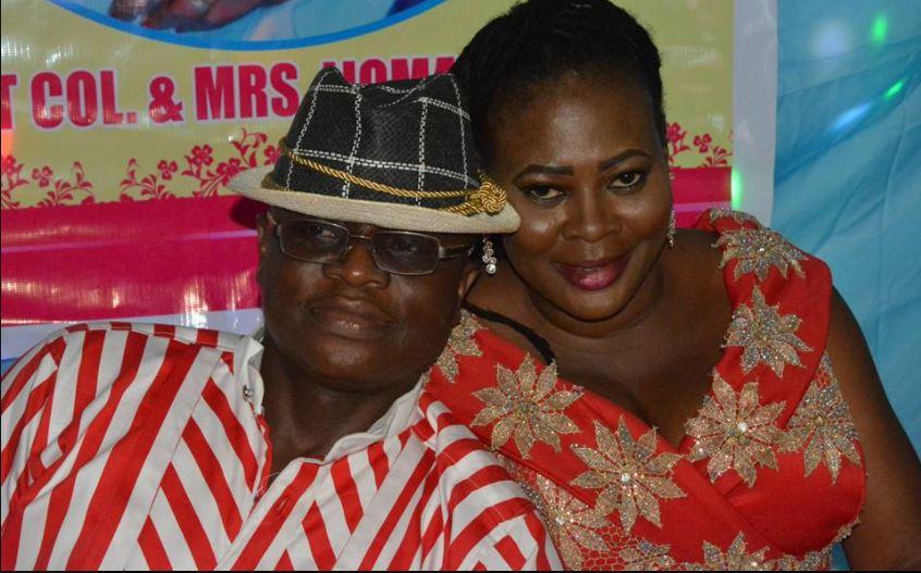 Linda Omal Wife of Lt. Col. Ijoma ijomanta, celebrates husband's birthday