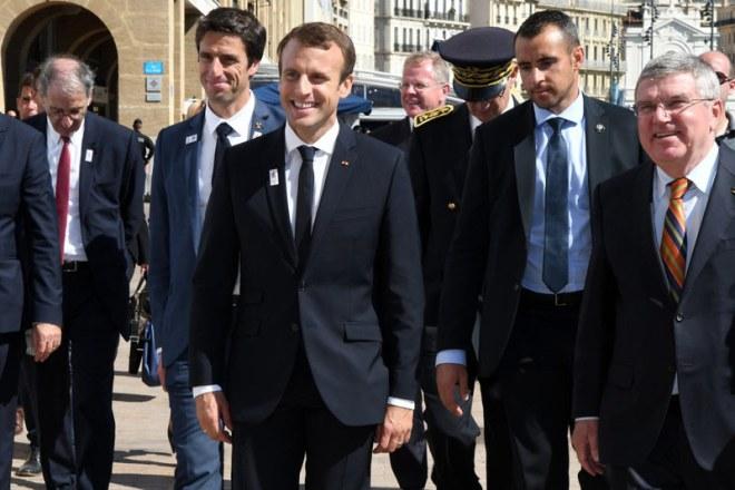France's Macron, ICO's Bach visit Marseille's sites