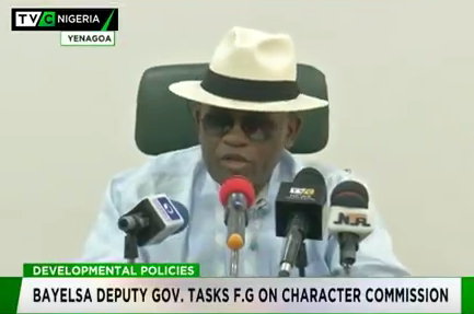Bayelsa govt tasks F.G. on Character Commission equity