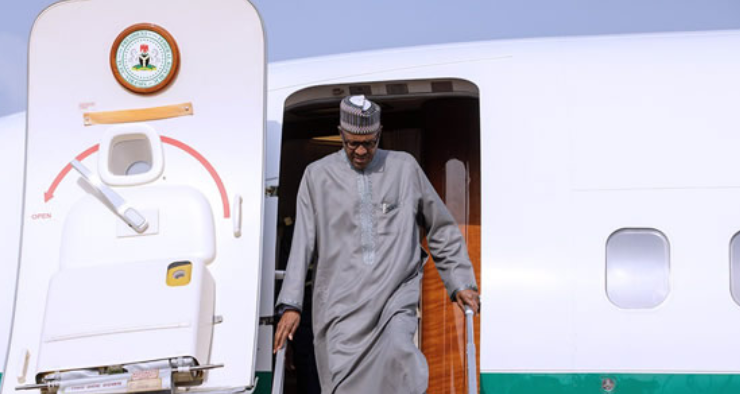 Buhari, wife return to Abuja after D-8 Summit in Turkey