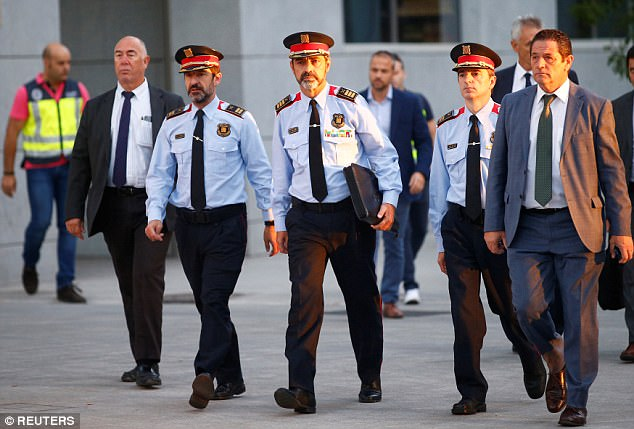 Catalonia: Fired Police chief resigns, asks for loyalty to successor