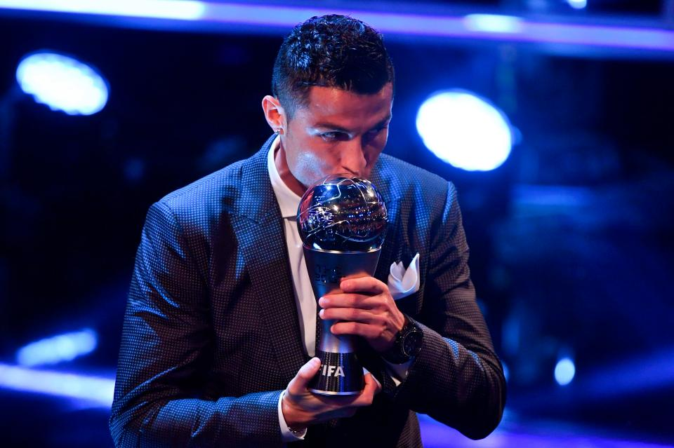 Cristiano Ronaldo retains #FIFABest Men's Player of the Year award