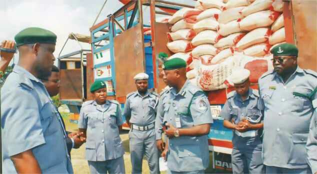 Nigeria Customs impounds 6,206 bags of rice, 59 vehicles