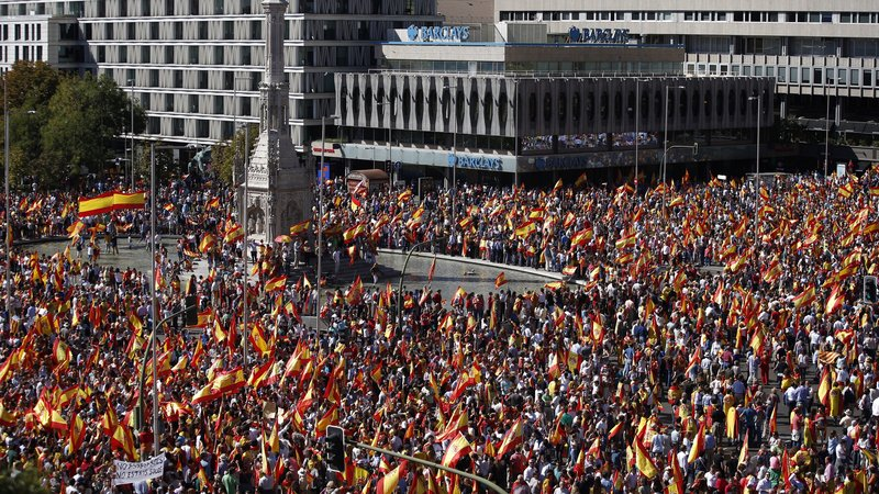 Demonstrations in Brussels for Spanish Unity