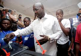 George Weah leads most counties in Liberia presidential election vote