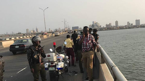 JUST IN : Man jumps into Lagos lagoon