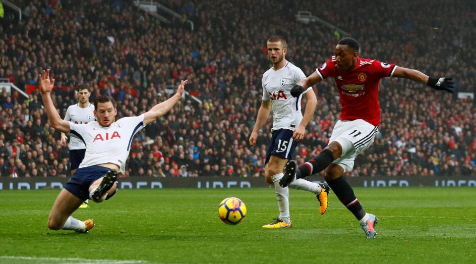 EPL : Man. Utd edge Tottenham 1-0 at Old Trafford