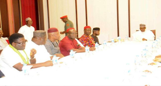 Buhari meets with Southeast governors, Senators