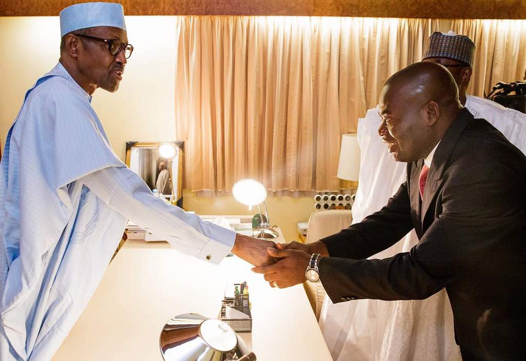 Anambra guber poll : Buhari meets APC candidate, Tony Nwoye in Abuja