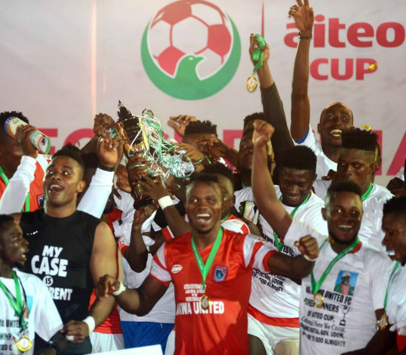 Akwa Utd beat Niger Tornadoes to clinch 2017 Aiteo Cup
