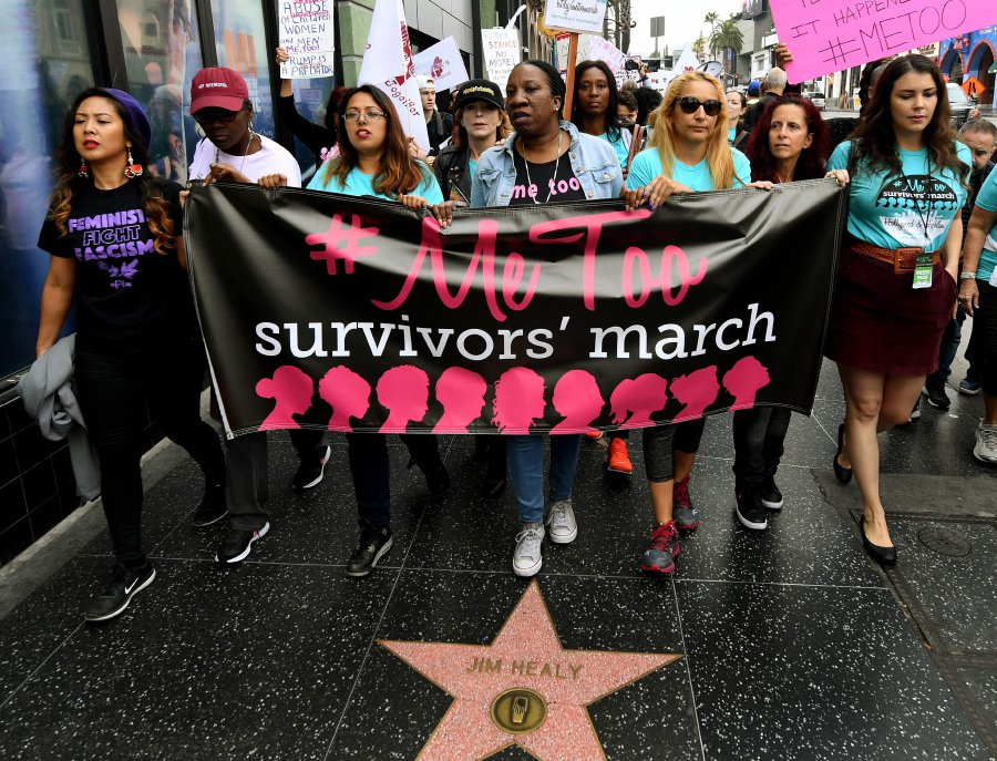 Hundreds join Hollywood #MeToo march against sexual abuse