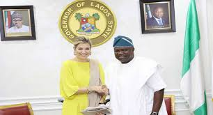 Ambode receives Queen Maxima of Netherlands in Lagos
