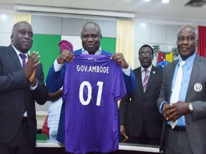 Ambode donates N50m to MFM Football Club
