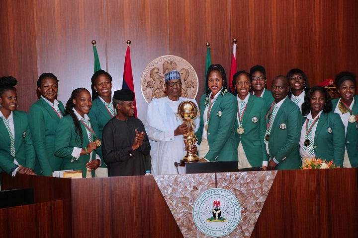 Buhari rewards 2017 Afrobasket champions, D'Tigress