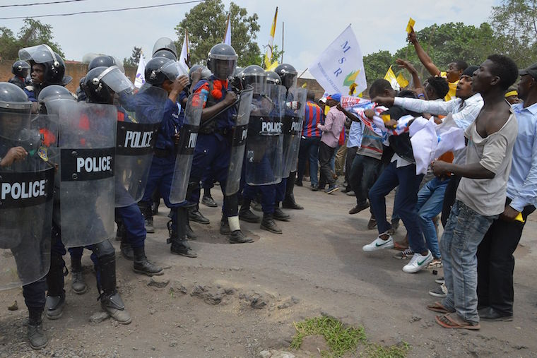 Police prevent civil society groups from holding rallies in D.R. Congo's Goma